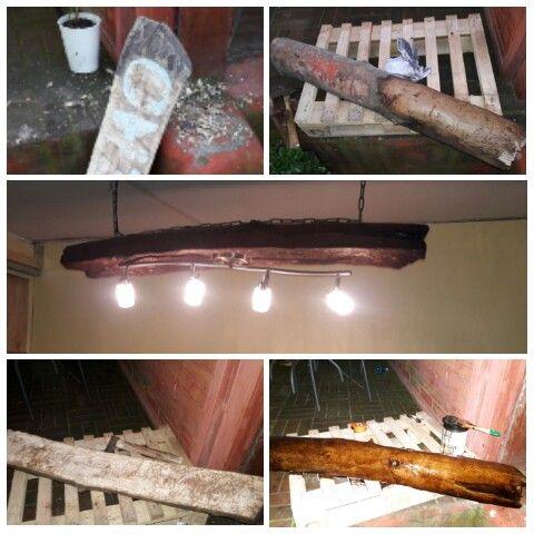 Wood proyect 3 Madera reciclada Lámpara 1