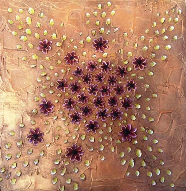 Texturas y acrílicos sobre madera. #Decoracion #Texturas #Arte #Manualidades