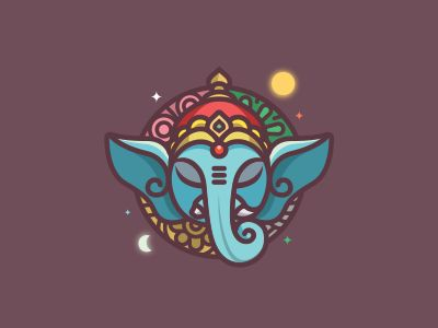 Ganesha - navamsa.ru by Carlos Puentes  Logo for a project about indian culture and indian astrology