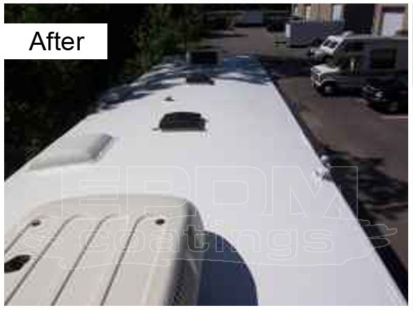 Liquid Roof Is Designed To Fix Leaks Permanently Reflect Heat Improve The Look Of Your Rv And Extend The Life Of The Roof In 2019 Roof Coating Liquid Roof Roof Sealant
