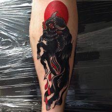 Bull tattoos tattoo traditional and tattoo artists on for Traditional bull tattoo