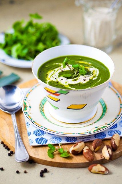 Hemsley & Hemsley: Watercress Soup With Brazil Nut Cream (Vogue.com UK)