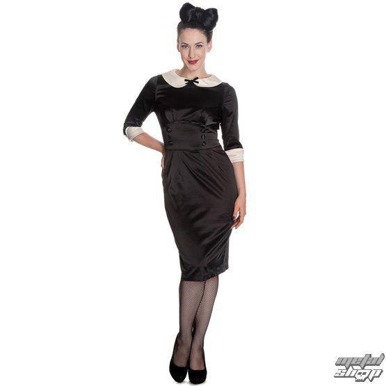 šaty dámské HELL BUNNY - Moneypenny - Blk/Ivory