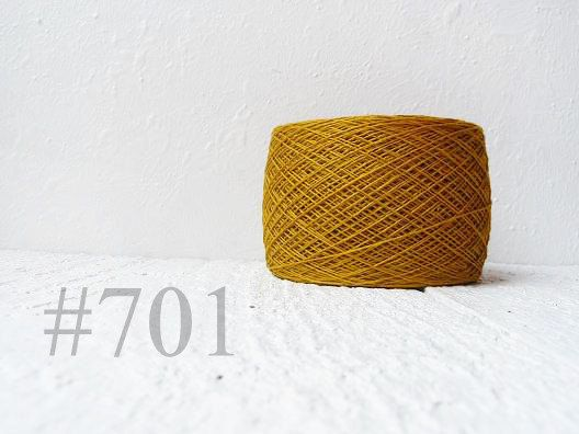 100% Linen Yarn for your craft ideas - knitting, crocheting, weaving, embroidery, macrame, tatting.  Made in Lithuania (Europe)    Color #701 in color palette    1, 2, 3 or 4 ply thickness for your choise.    •Type: cobweb, 1 ply  Length: 1800m - 1950 yards  One skein weight: 100gr - 3,5 oz • Type: laceweight, 2 ply (similar to size 20 crochet thread)  920yards per 3,5oz.  850m - 100gr    • Type: laceweight, 3 ply ( similar to size 10 crochet thread)  660 yards per 3.5oz.  600m - 100gr    •…