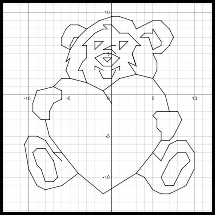 Valentines Day Bear Hug A Coordinate Graphing