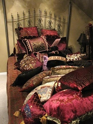 Medieval Muse: Princess and the Pea  Pillows!  What do you do with all of these pillows when you go to bed?