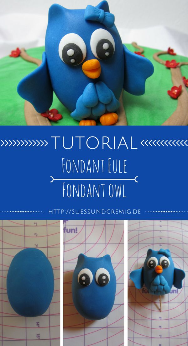 Fondant Eule Anleitung | Fondant Owl Tutorial | DIY | süß und cremig - Foodblog