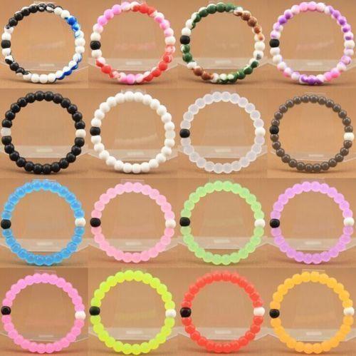 lokai bracelet fashion shark Lokai silicone beads bracelets for men and women