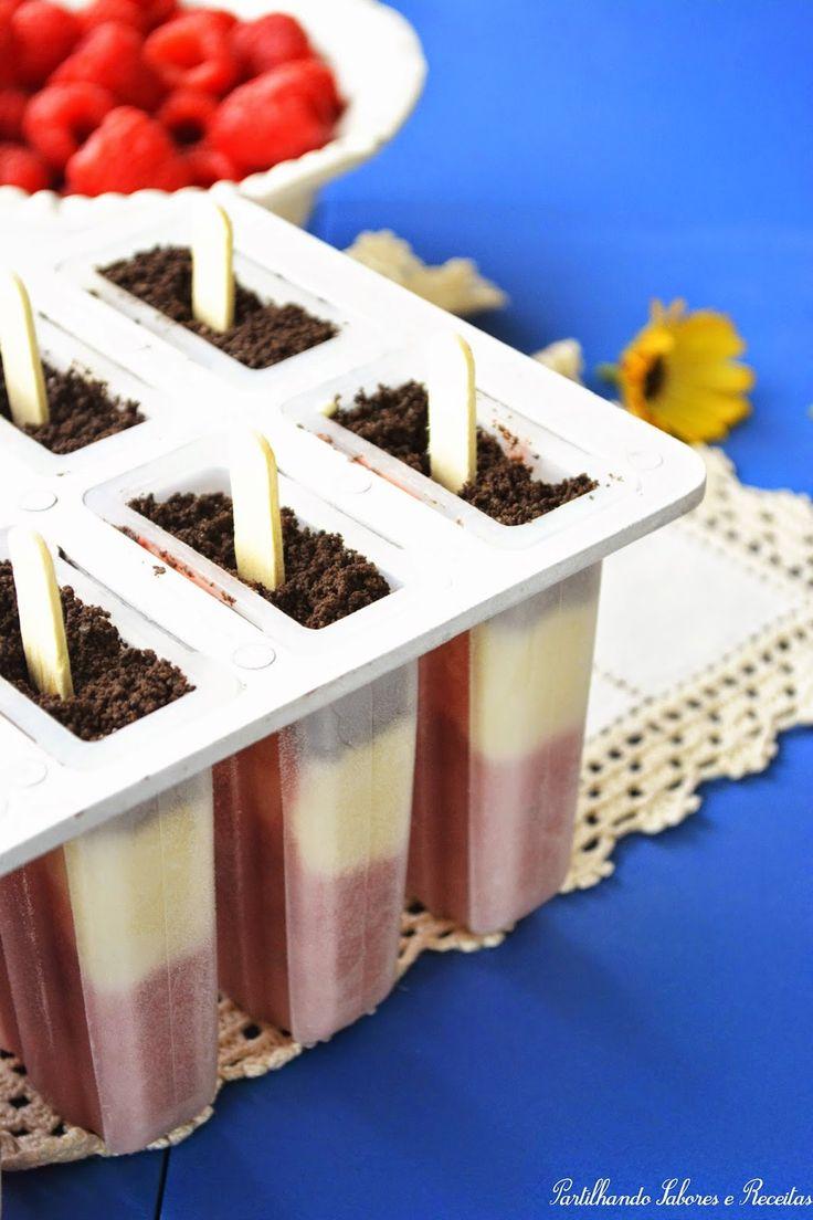 Gelado de Iogurte, Framboesa e Oreo * Yogurt Ice Cream, Raspberry and Oreo