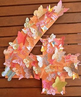 Giggleberry Creations!: Butterfly Party - Number Wreath!