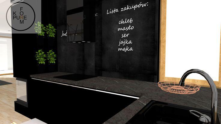 Black modern kitchen http://www.kppureform.pl