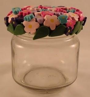 polymer clay jar lids