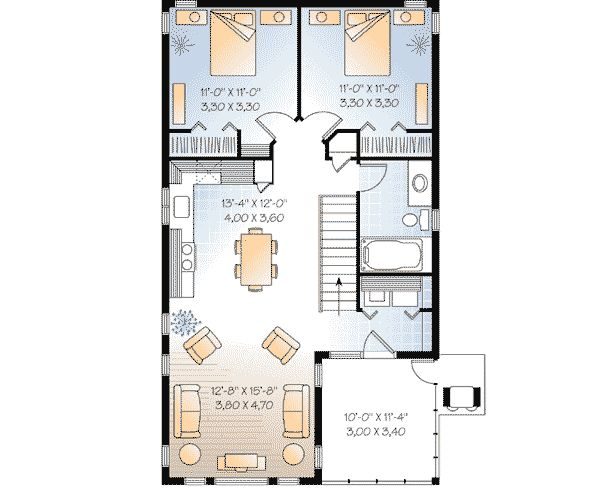 75 best apartment images on pinterest small home plans for 2 bedroom 2 bath garage apartment plans