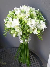 Wedding bouquet freesias