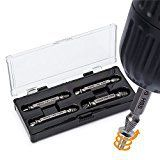 #7: Damaged Screw Extractor and Remover Set by AisxleEasily Remove Stripped or Damaged Screws. Made From H.S.S. 4341# the Hardness Is 62-63hrcSet of 4 Stripped Screw Removers