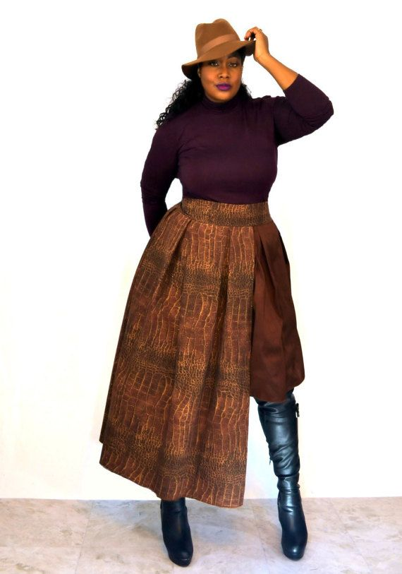 Plus Size Maxi Skirt  Layered by SpoiledDiva on Etsy