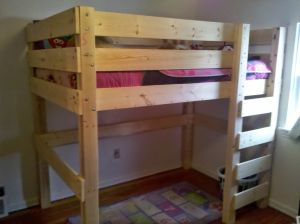 Free DIY Woodworking Plans for Building a Loft Bed: Afloat.ca's Free Loft Bed Plan