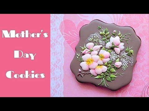(1) Mother's Day cookie gift. Beautiful flower bouquet. - YouTube