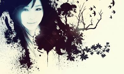 Asian Girl Face, Vector (click to view)