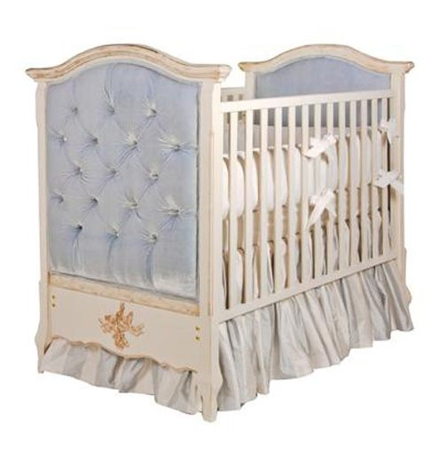 Upholstered Crib In Versailles Creme With Crystal Tufting By Art For Kids Here AFKs Mission Is To Create The Worlds Finest Furnishings Children