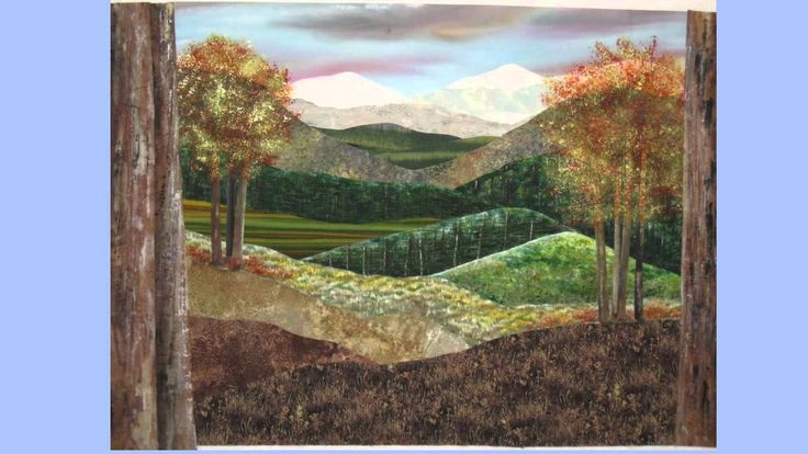 A quick walk through to constructing one of my landscape art quilts. Some fabrics have been transformed with a little paint. The finished quilt is approx. 35...