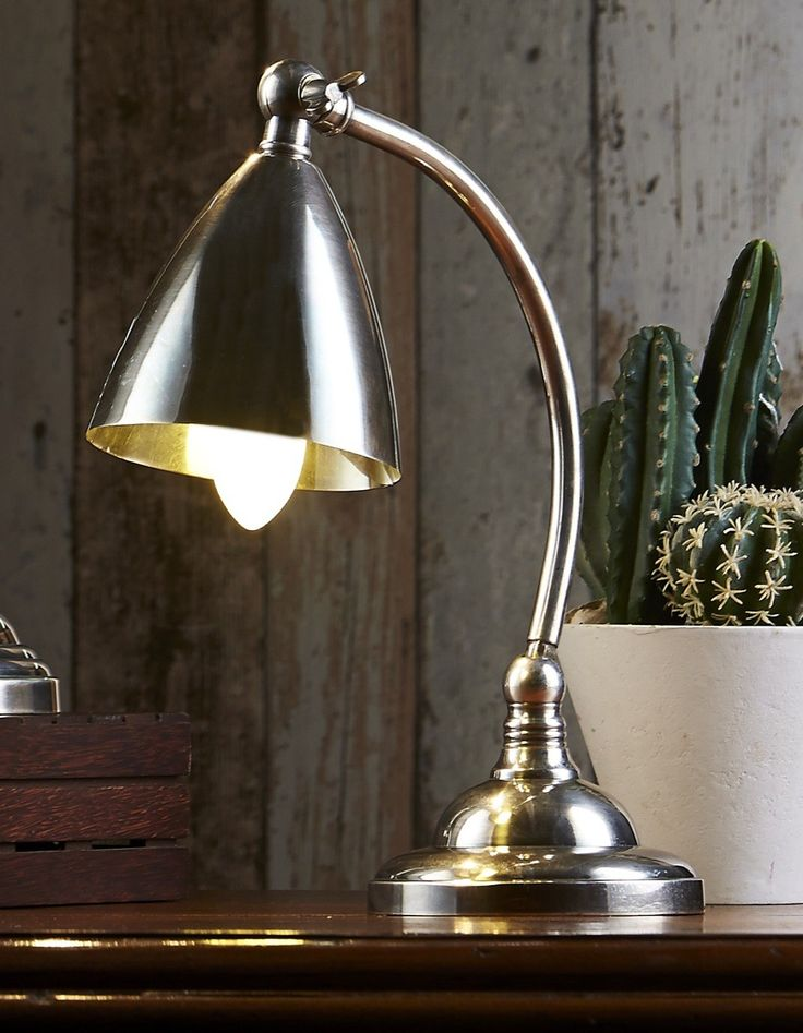 Brentwood Table Lamp Antique Silver - TABLE LAMPS  - Emac & Lawton
