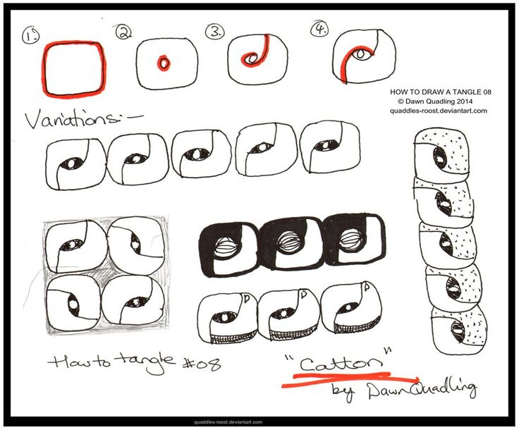 How to Draw Tangle 08 Catton_quaddles-roost by Quaddles-Roost.deviantart.com on @deviantART