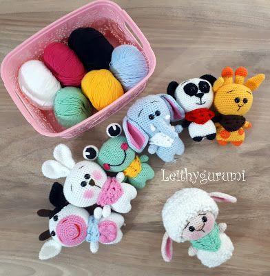 Leithygurumi: Amigurumi Little Sheep Englisch und Türkisch Patterm
