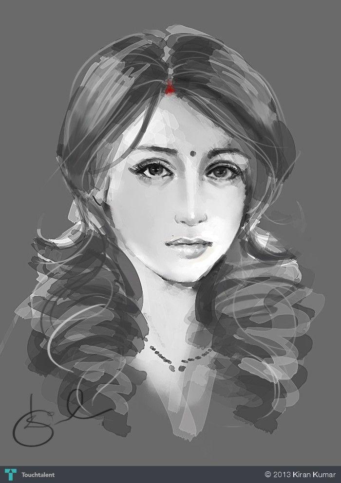 Silent indian woman by kiran kumar