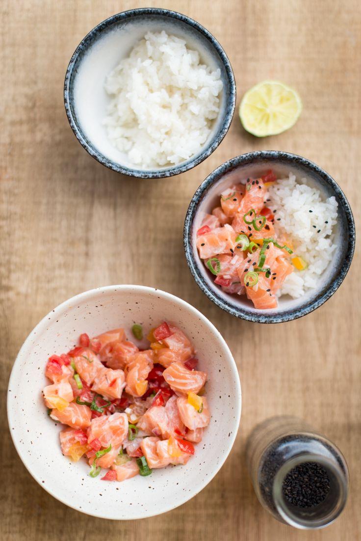 Lomi Lomi Salmon – Hawaiianischer Lachs-Tomaten-Salat mit Frühlingszwiebeln | Der Klang von Zuckerwatte