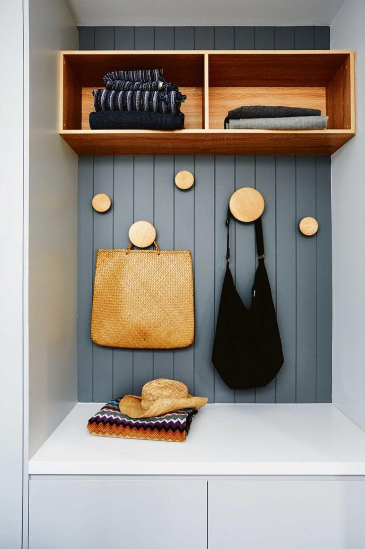 Storage Nooks are always handy.  Styled and designed by Deanne Jolly.