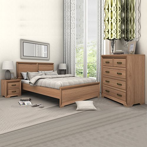 Mariza Saxon Oak Queen Bedroom Suite
