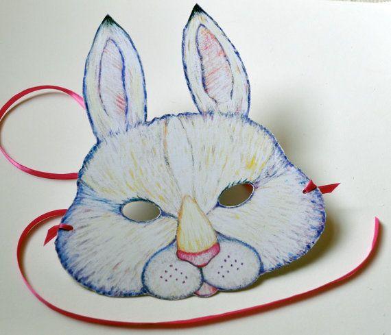 Rabbit Mask by vickismithart on Etsy
