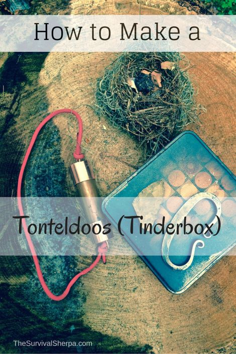 How to Make a Pocket Tonteldoos (Tinderbox) for Flint and Steel Fires - TheSurvivalSherpa.com