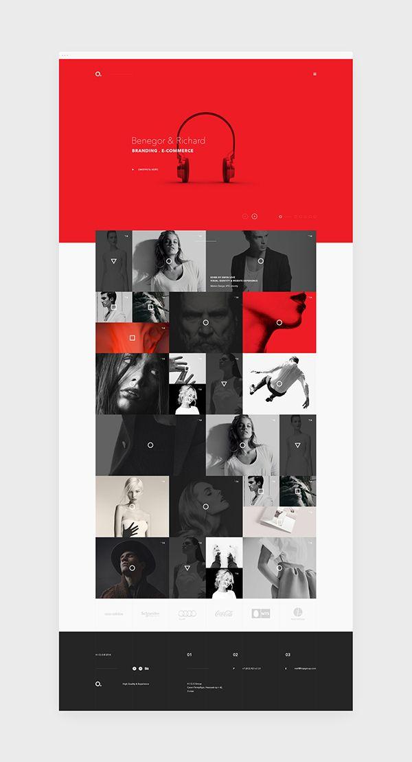 Mozaïc layout / Webdesign