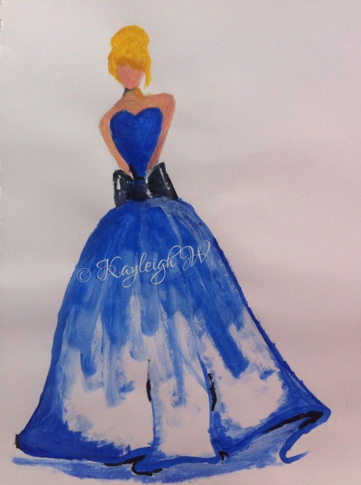Cinderella dress Fashion illustration © Kayleigh W