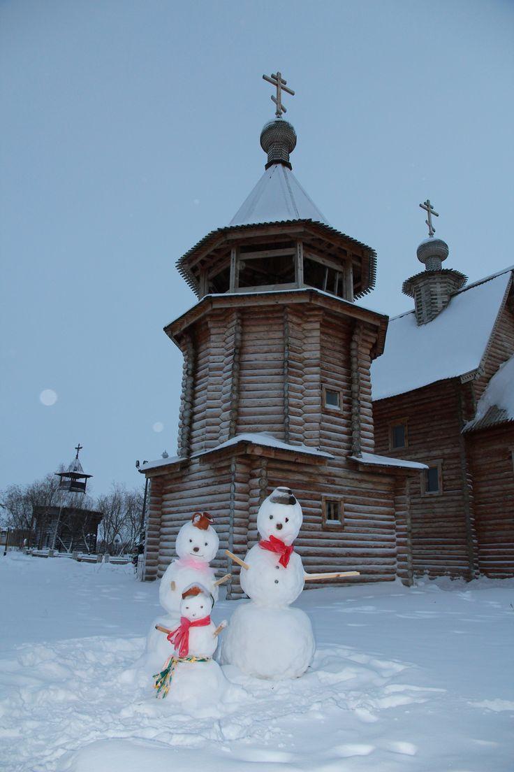 Yamal Snowman Family