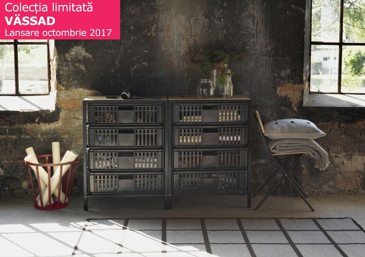 Noua colecție limitată VÄSSAD este inspirată din design-ul industrial, iar elementele dominante sunt lemnul, metalul, sticla și lâna. Noi credem că se potrivește de minune atât într-o casă modernă, cât și în case cu design minimalist.