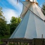 Glamping in a tipi or Yurt in Wales at Larkhill Tipis and Yurts