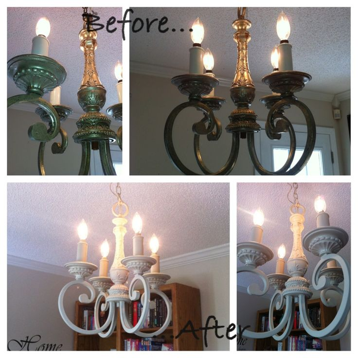 Painting Dining Room Chandelier: Before And After On My Dining Room Chandelier I Painted