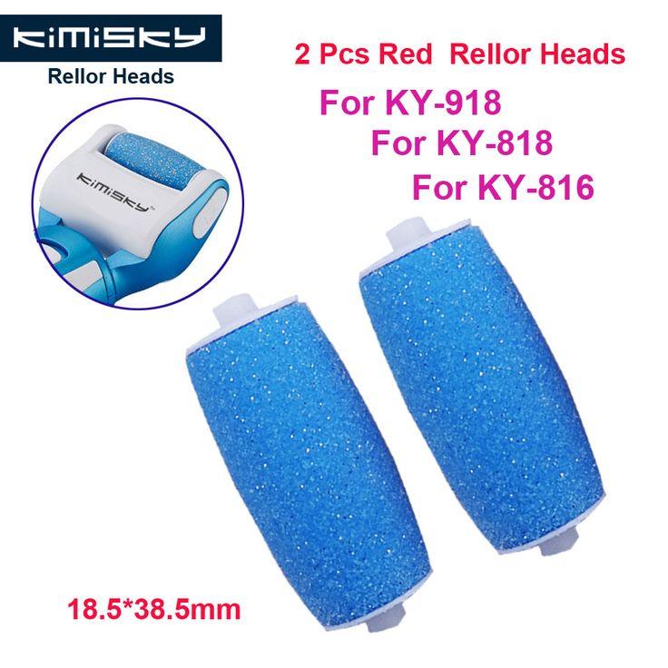 2016 Mavi Ayak bakımı aracı rulo için pedikür herramientas sert silindir Kafaları Heads 2 adet KIMISKY KY-816/818 Ücretsiz nakliye