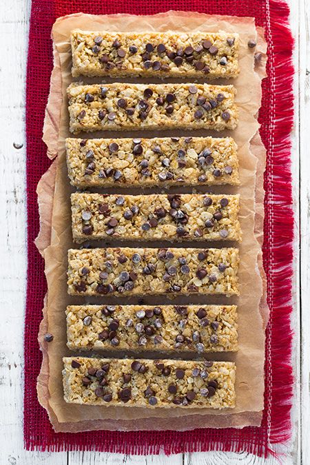 Microwave Chewy Chocolate Chip Granola Bars - these  taste even better than the boxed kind and they are so easy to make (the coating is made in the microwave), and they can be made with coconut oil or butter (both versions are delicious). You'll want to make them at least once a week!