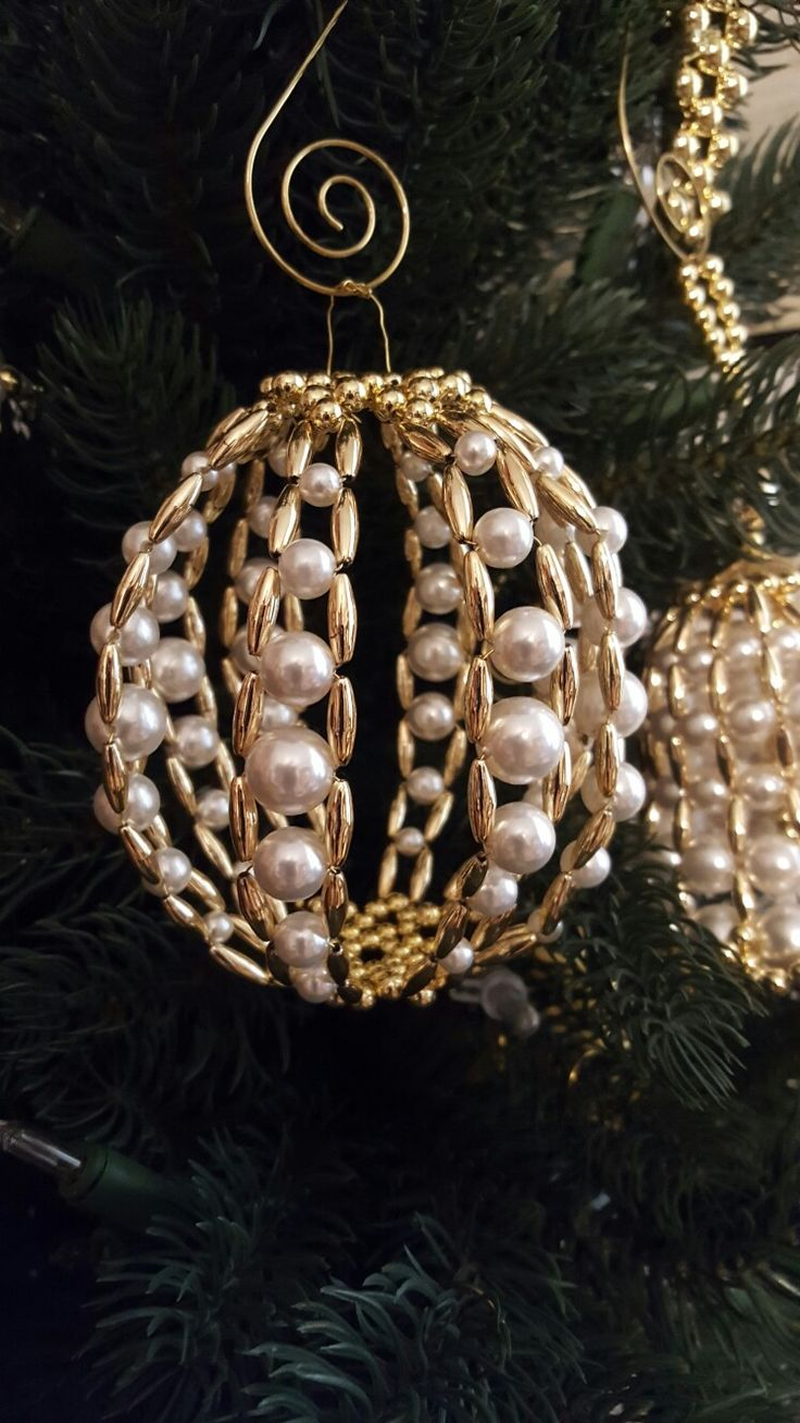 Engagement ring christmas ornament - 3d Gold Creation Ball Copyright 2013 Rufty S Christian Symbols Beaded Ornamentschristmas