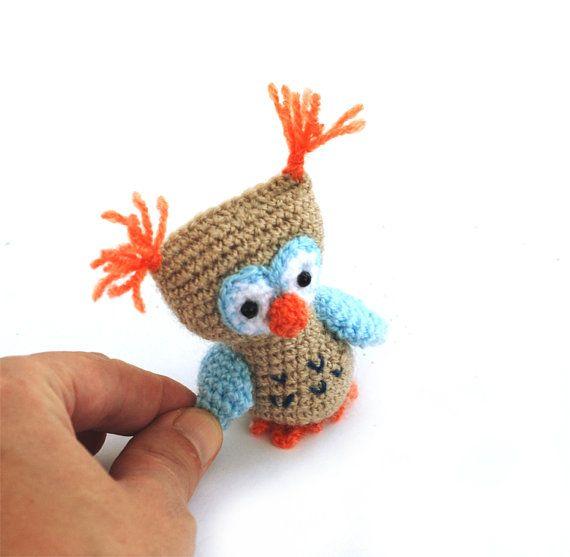 $21.46 #Crochet #owl #doll, #little #amigurumi owl, #crochet toy #owl, #stuffed owl, #bird #decoration, #miniature owl, #little owl, #small owl, #plush owl #gift