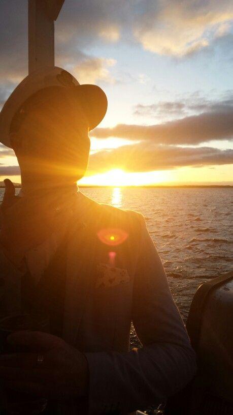 Sun setting on Lough Corrib