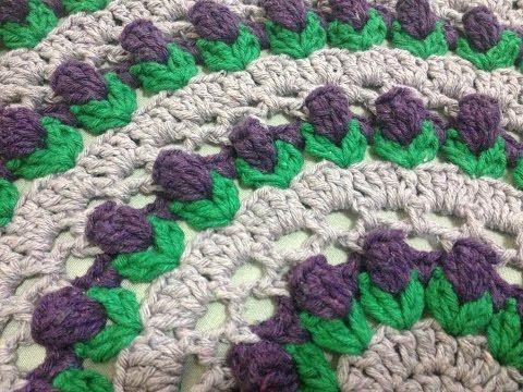 Toalha Botão de Flor / Flower Bud / Capullo de la Flor redonda crochê - Professora Maria Rita - YouTube