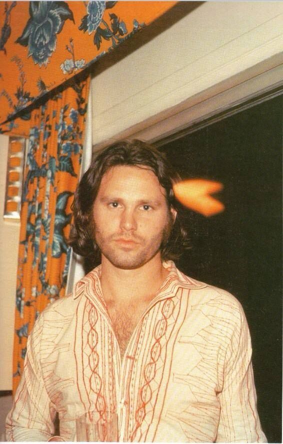 "very rare photo of Jim Morrison......WOW,.....WHAT A GREAT PICTURE OF ""JIM"".......JIM WE ALL MISS YOU DEARLY.......LOVE ALWAYS......R.I.P. and what a fabulous set of curtains !!"