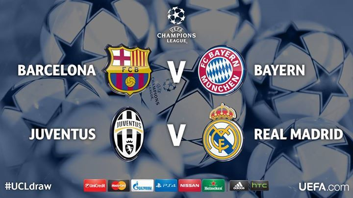Barcelona - Bayern | Juventus - Real Madrid
