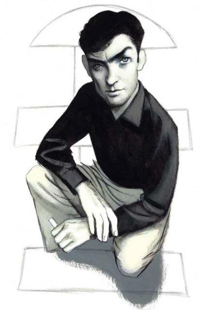 Julio Cortazar Portrait by Fernando Vicente.