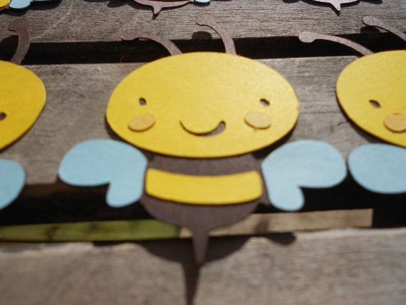 Cute Bee Paper Piecing for scrapbooking or by FiendishPaperThingy, $6.00